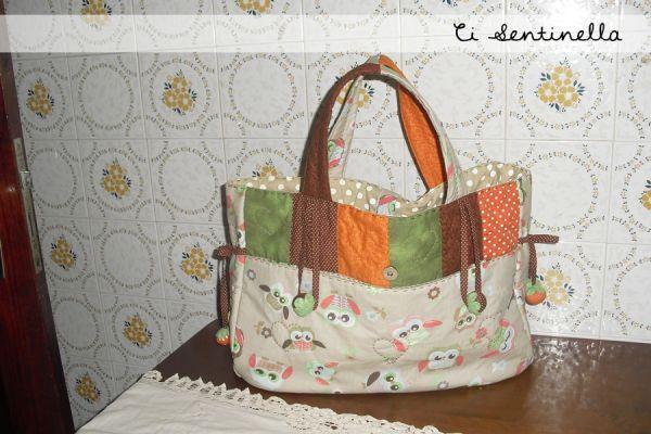 Bolsa De Pano Artesanato : Bolsa sacola coruja vida de pano artesanato